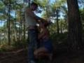 Couple naturiste baise dans la foret
