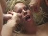 Deluge de sperme sur la gueule d une salope blonde