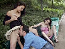 Sexe amateur dans un parc public